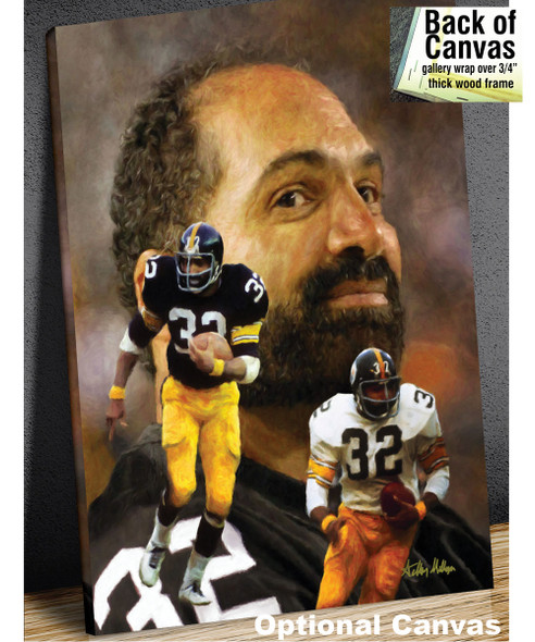 Franco Harris Pittsburgh Steelers Running Back NFL Football Art Print 2510 canvas frame example