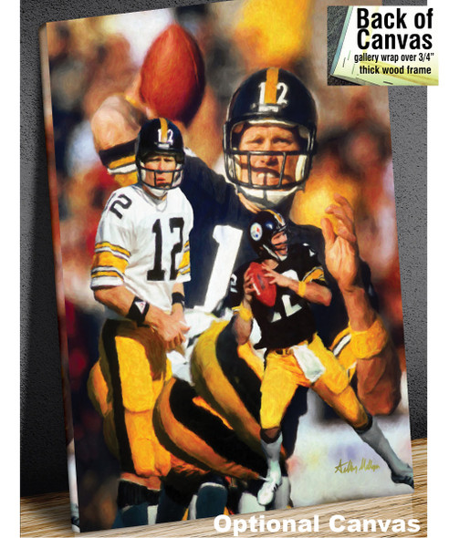 Terry Bradshaw Pittsburgh Steelers QB Quarterback NFL Football Art 8x10-48x36 Art Print 2510