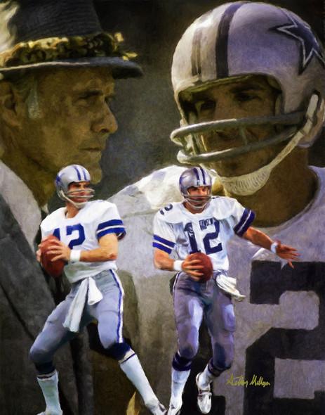 Dallas Cowboys Roger Staubach Quarterback QB NFL Football Art Print
