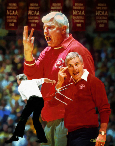 Bob Knight Indiana Hoosiers Coach NCAA College Football 8x10-48x36 Art Print 2510