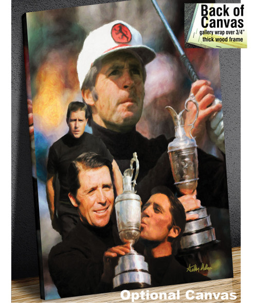 Gary Player Masters and Open Champion PGA Golf Professional Golfer Art Print 2520 8x10-48x36 canvas frame example