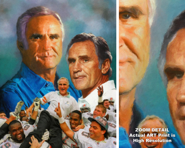 Don Shula Miami Dolphins Head Coach NFL Football Art Print 2510 AM3 8x10-48x36