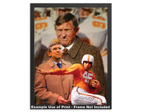 Johnny Majors Coach Tennessee Vols NCAA College Football 2520 Art Print 8x10-48x36 framed example