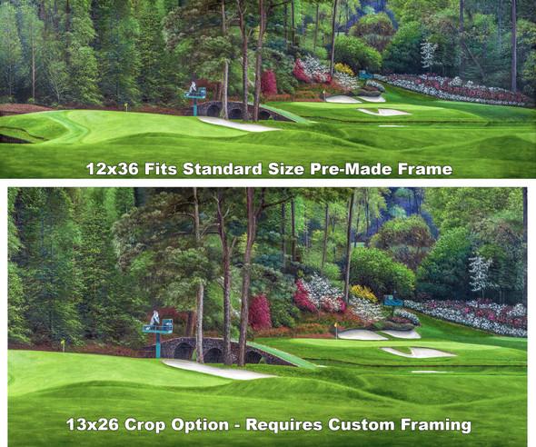 Augusta National Golf Club Masters Amen Corner Holes 11 White Dogwood 12 Golden Bell Art golf course oil painting art print 3000 full plus cropped version