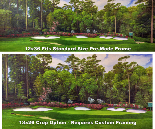 Augusta National Golf Club Masters Amen Corner Hole 13 Magnolia Art golf course oil painting art print 3000 full plus cropped version