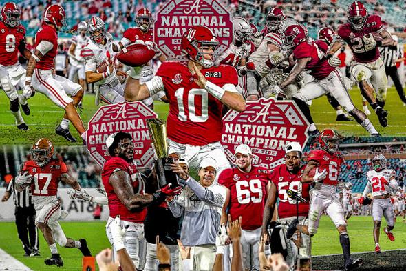 Alabama Crimson Roll Tide Nick Saban Head Coach College Football Art Print 2510 WC5 main image