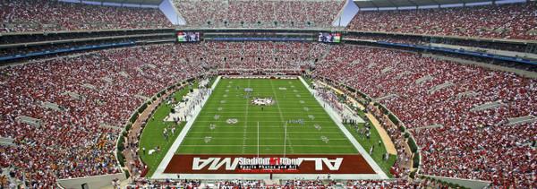 Bryant-Denny Stadium, home of Alabama Crimson Tide13x37 photo