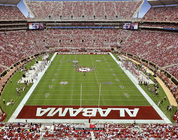 Bryant-Denny Stadium, home of Alabama Crimson Tide 8x10 or 11x14 or 40x30 photo