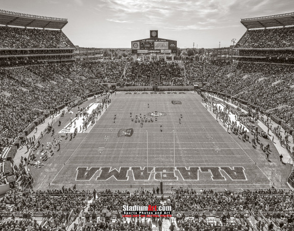 Alabama Crimson Tide Bryant EZ Bryant-Denny Stadium NCAA College Football Photo 7bw 8x10-48x36