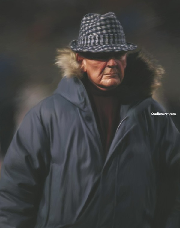 Bear Bryant Alabama Crimson Roll Tide College Football Art 11 8x10-48x36