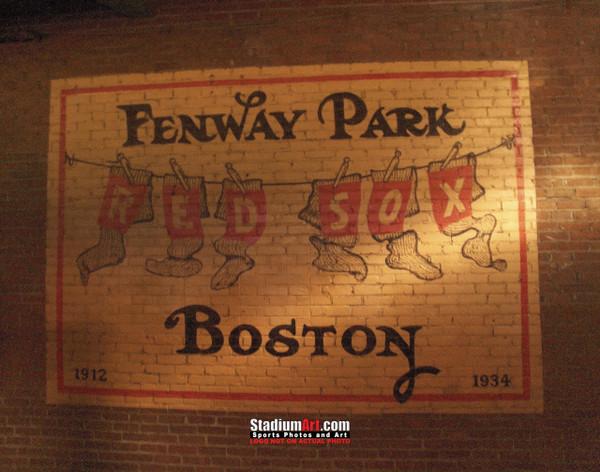 Boston Red Sox Fenway Park Wall Sign MLB Baseball Photo 101 8x10-48x36
