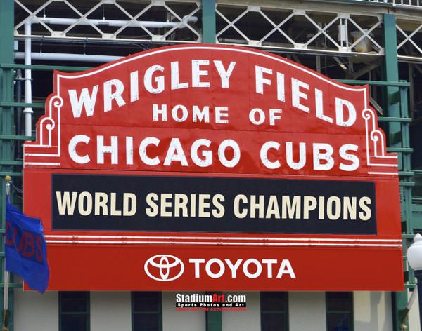 Chicago Cubs Wrigley Field MLB Baseball Photo 01 8x10-48x36
