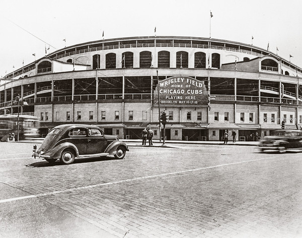 Chicago Cubs Wrigley Field Old MLB Baseball Photo 50 8x10-48x36