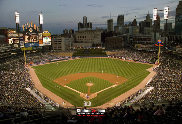 Detroit Tigers Comerica Park Baseball Stadium Photo Print 01 8x10-48x36