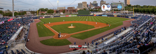 Nashville Sounds Minor League Baseball Stadium Photo Art Print 13x37