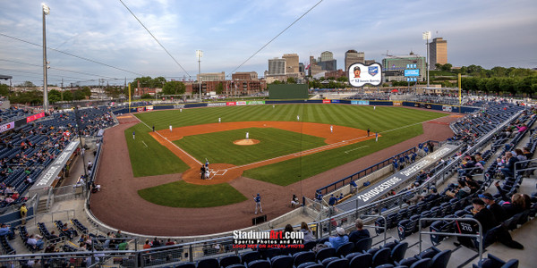 Nashville Sounds Minor League Baseball Stadium Photo Art Print 13x26