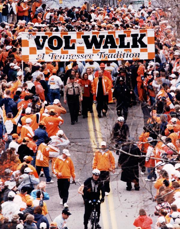 Tennessee Volunteers Vol Walk UT Vols NCAA College Football CHOICES