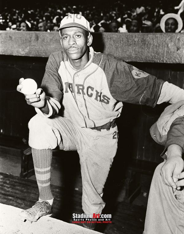 Satchel Paige Kansas City Monarchs Negro League Baseball Photo Art Print 8x10 or 11x14 or 40x30 StadiumArt.com Sports Photos
