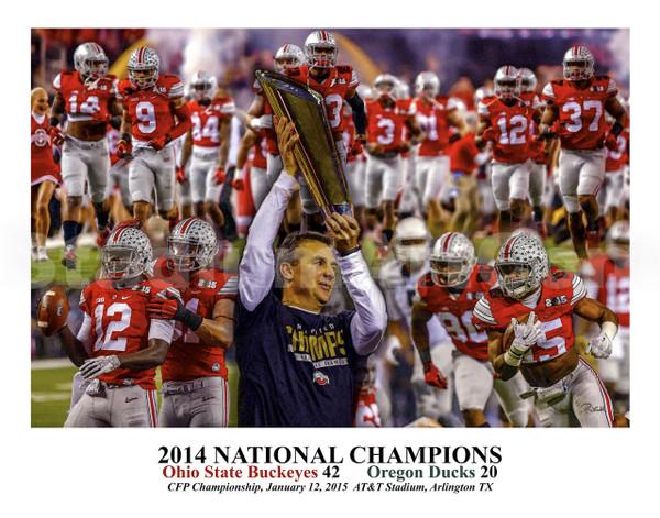 Ohio State Buckeyes National Champions 2014 NCAA College Football fine art print