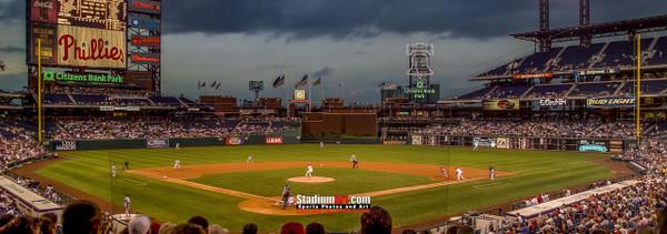Philadelphia Phillies Citizens Bank Park Baseball StadiumPhoto Art Print 13x37 StadiumArt.com Sports Photos