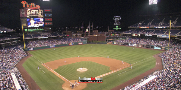 Philadelphia Phillies Citizens Bank Park Baseball StadiumPhoto Art Print 13x26 StadiumArt.com Sports Photos