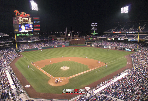 Philadelphia Phillies Citizens Bank Park Baseball Stadium Photo Art Print 13x19 or 24x36 StadiumArt.com Sports Photos