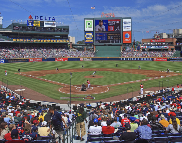 Atlanta Braves Turner Field Chipper Jones Baseball Stadium 01 MLB 8x10-48x36 CHOICES