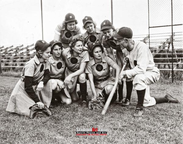 Rockford Peaches Women's Baseball League Photo Art Print 8x10 or 11x14 or 40x30 StadiumArt.com Sports Photos