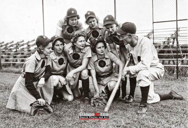 Rockford Peaches Women's Baseball League Photo Art Print 13x19 or 24x36 StadiumArt.com Sports Photos