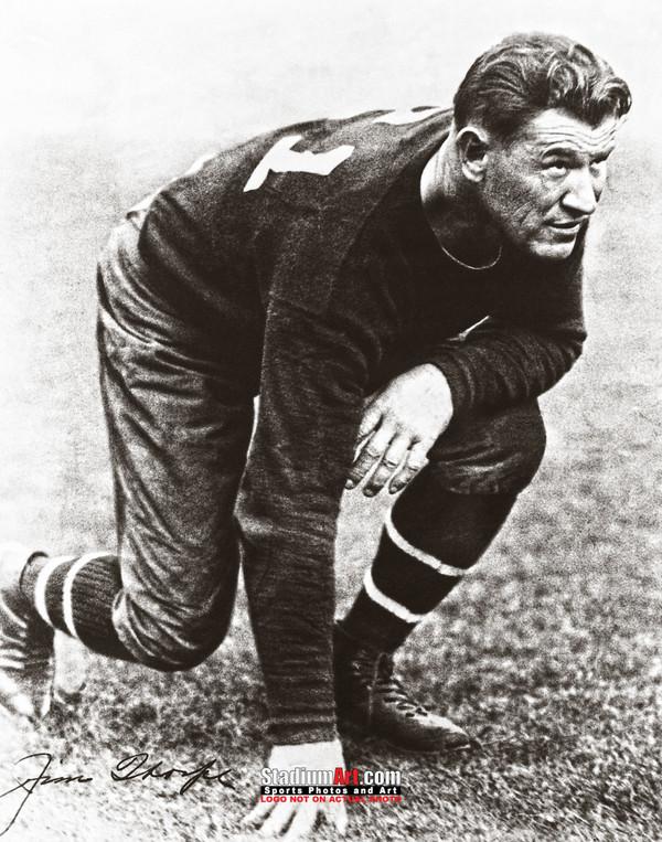 Jim Thorpe Football Stance 8x10 or 11x14 or 40x30 photo StadiumArt.com Sports Photos