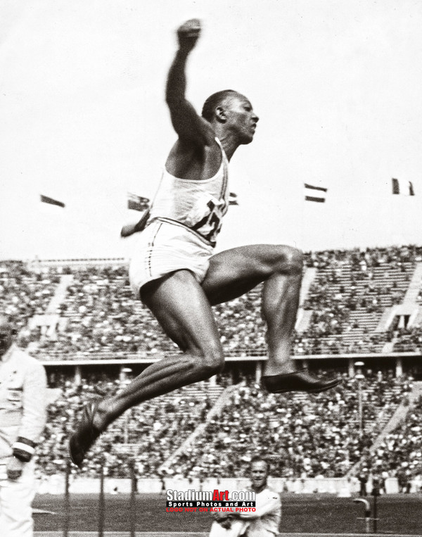 Jesse Owens Track Long Jump Olympics 8x10 or 11x14 or 40x30 photo StadiumArt.com Sports Photos