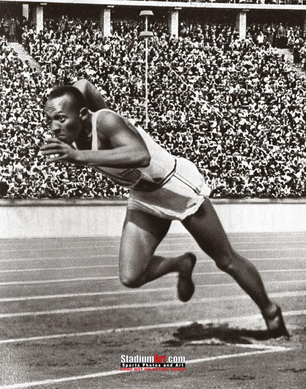 Jesse Owens Track Sprinting Olympics 8x10 or 11x14 or 40x30 photo StadiumArt.com Sports Photos
