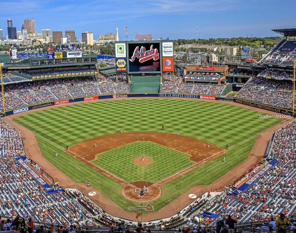Atlanta Braves Turner Field Baseball Stadium 04 MLB 8x10-48x36 CHOICES