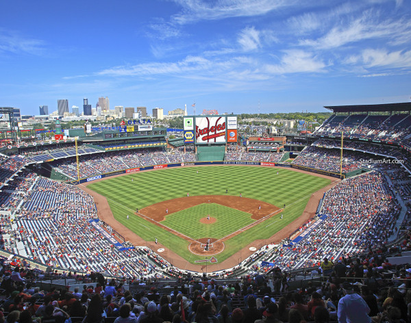 Atlanta Braves Turner Field Baseball Stadium 11 MLB 8x10-48x36 CHOICES