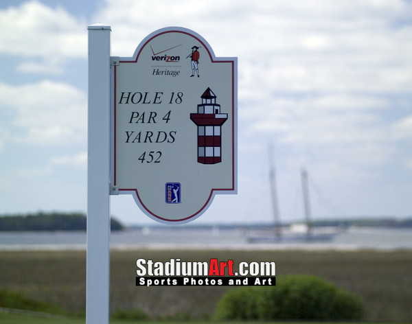 Harbour Town Golf Links at The Sea Pines Resort  Golf Hole 18 Sign  8x10-48x36 Photo Print 1300