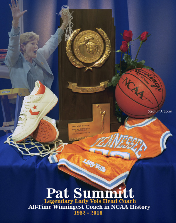 Tennessee Volunteers Women's Basketball Pat Summitt Lady Vols 01 NCAA College Football CHOICES