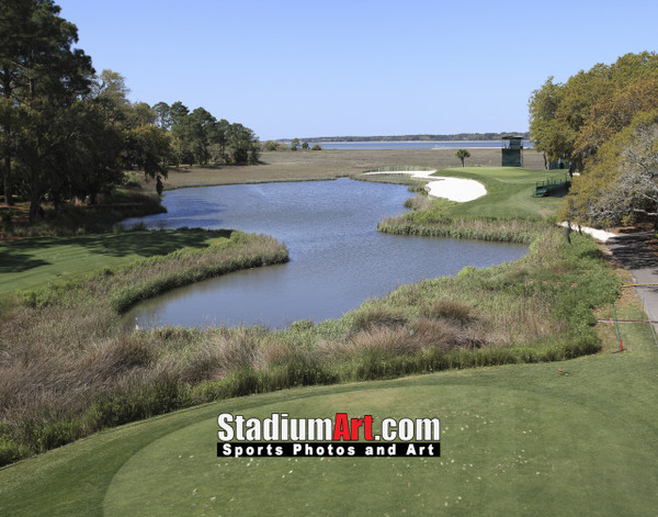 Harbour Town Golf Links at The Sea Pines Resort Golf Hole 17  8x10-48x36 Photo Print 1500