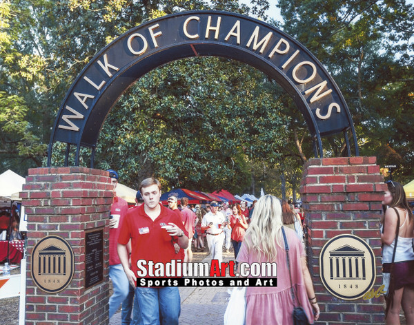 Ole Miss Rebels Mississippi Walk of Champions Grove NCAA College Football 8x10-48x36 Photo Print 5310