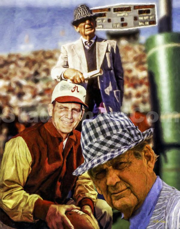 Alabama Crimson Roll Bear Bryant Legendary Head Coach