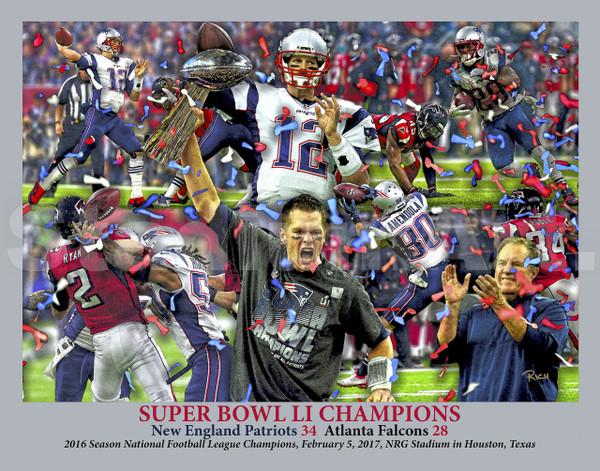 New England Patriots Super Bowl LI 2017 Tom Brady