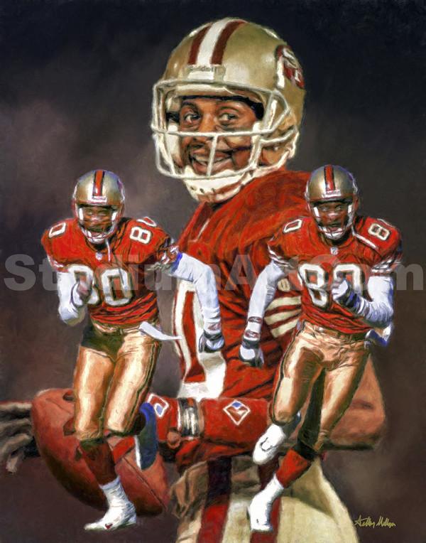 San Francisco 49ers Jerry Rice Wide Receiver NFL Football Art 8x10-48x36 Art Print
