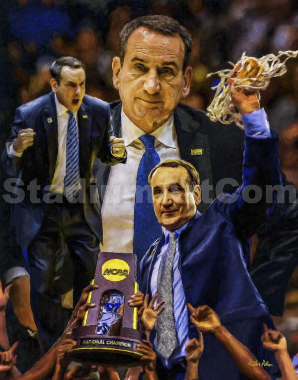 Mike Krzyzewski Duke Blue Devils Coach K NCAA Basketball