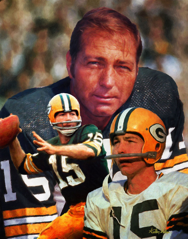 Green Bay Packers Bart Starr NFL Football Art Print 8x10 or 11x14 or 16x20 or 40x30 StadiumArt.com Sports Photos