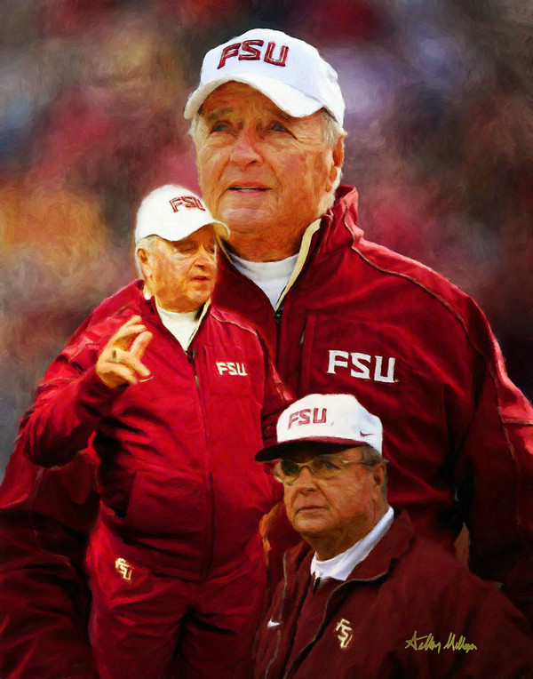 Bobby Bowden Florida State Seminoles Head Coach FSU NCAA College Football Art Print