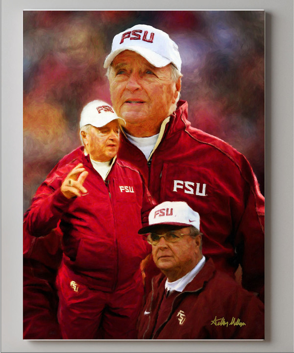 Bobby Bowden Florida State Seminoles Head Coach FSU NCAA College Football Art Print canvas frame on wall