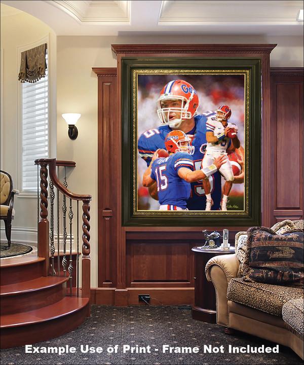 Tim Tebow Florida Gators College Football NCAA QB Quarterback in luxury home with wood panels