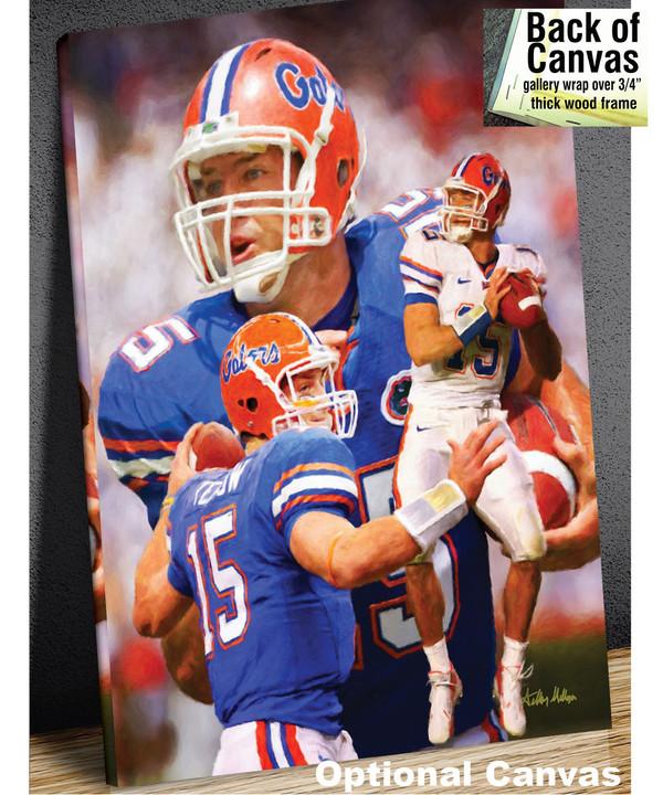 Tim Tebow Florida Gators College Football NCAA QB Quarterback canvas frame example