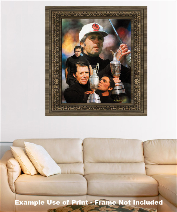 Gary Player Masters and Open Champion PGA Golf Professional Golfer Art Print 2520 8x10-48x36 framed on wall