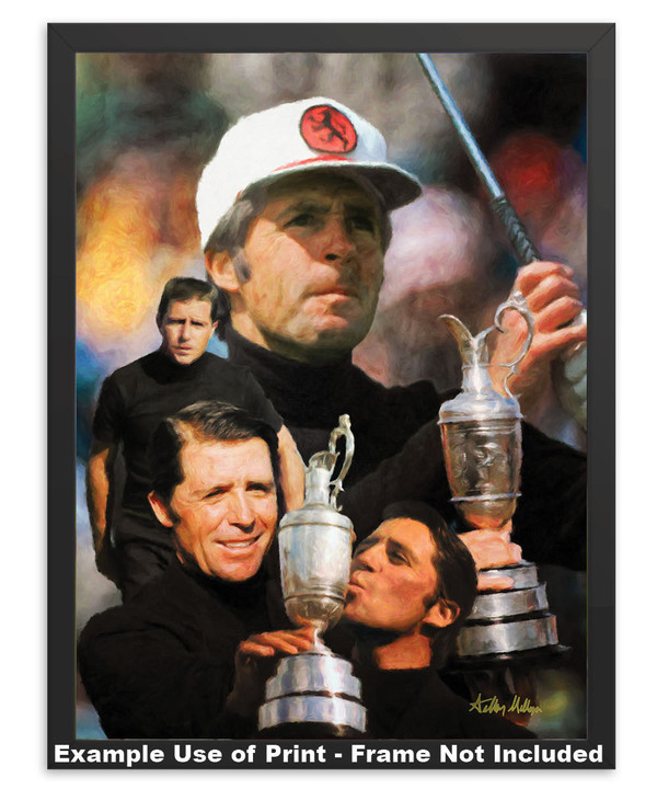 Gary Player Masters and Open Champion PGA Golf Professional Golfer Art Print 2520 8x10-48x36 in simple black frame