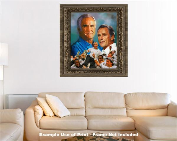 Don Shula Miami Dolphins Head Coach NFL Football Art Print 2510 AM3 8x10-48x36